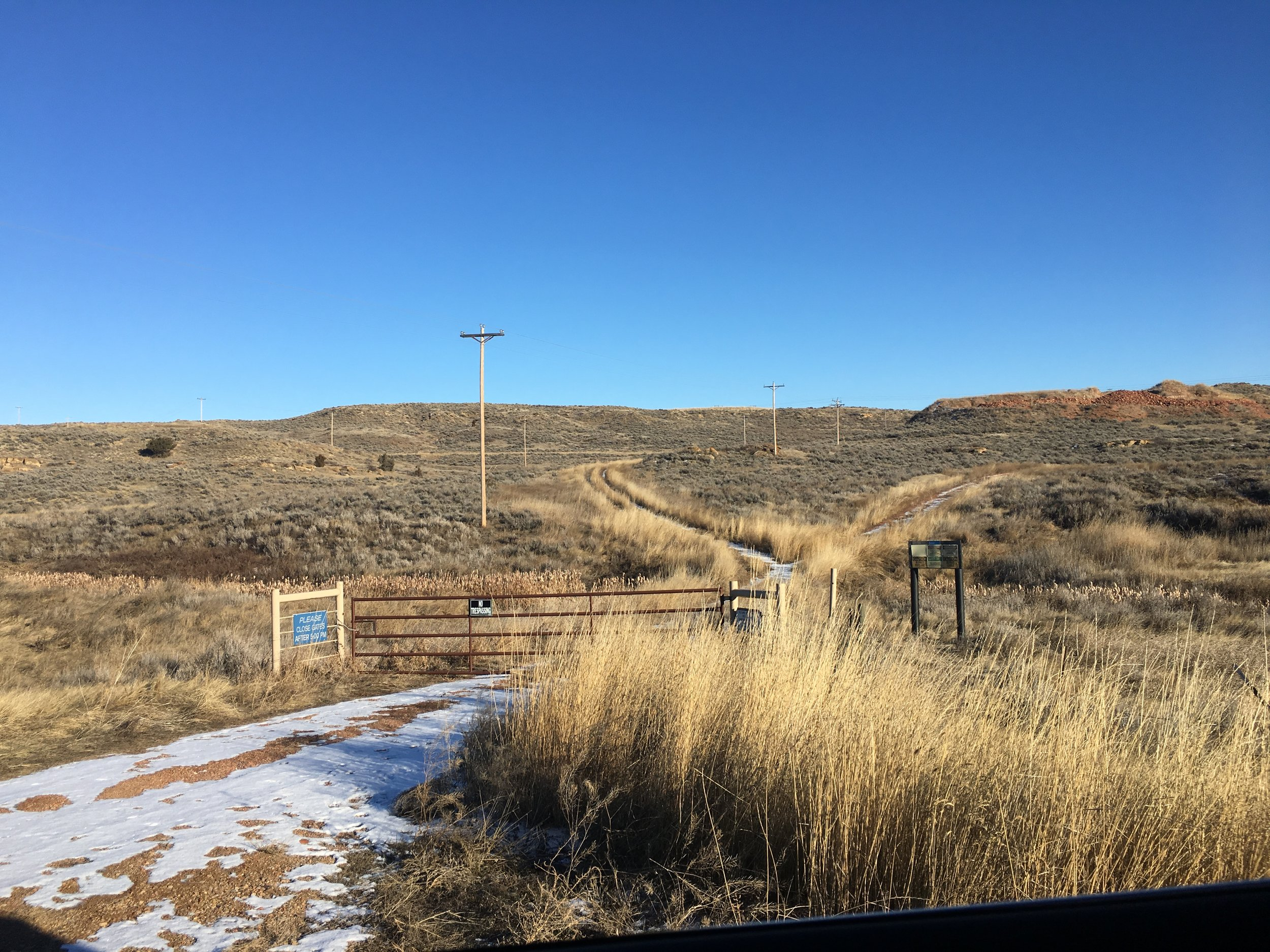 Coalbed methane access roads and above ground power infrastructure, Sheridan County, WY