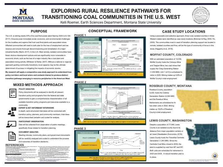 Exploring Rural Resilience Pathways for Transitioning Coal Communities in the U.S. West