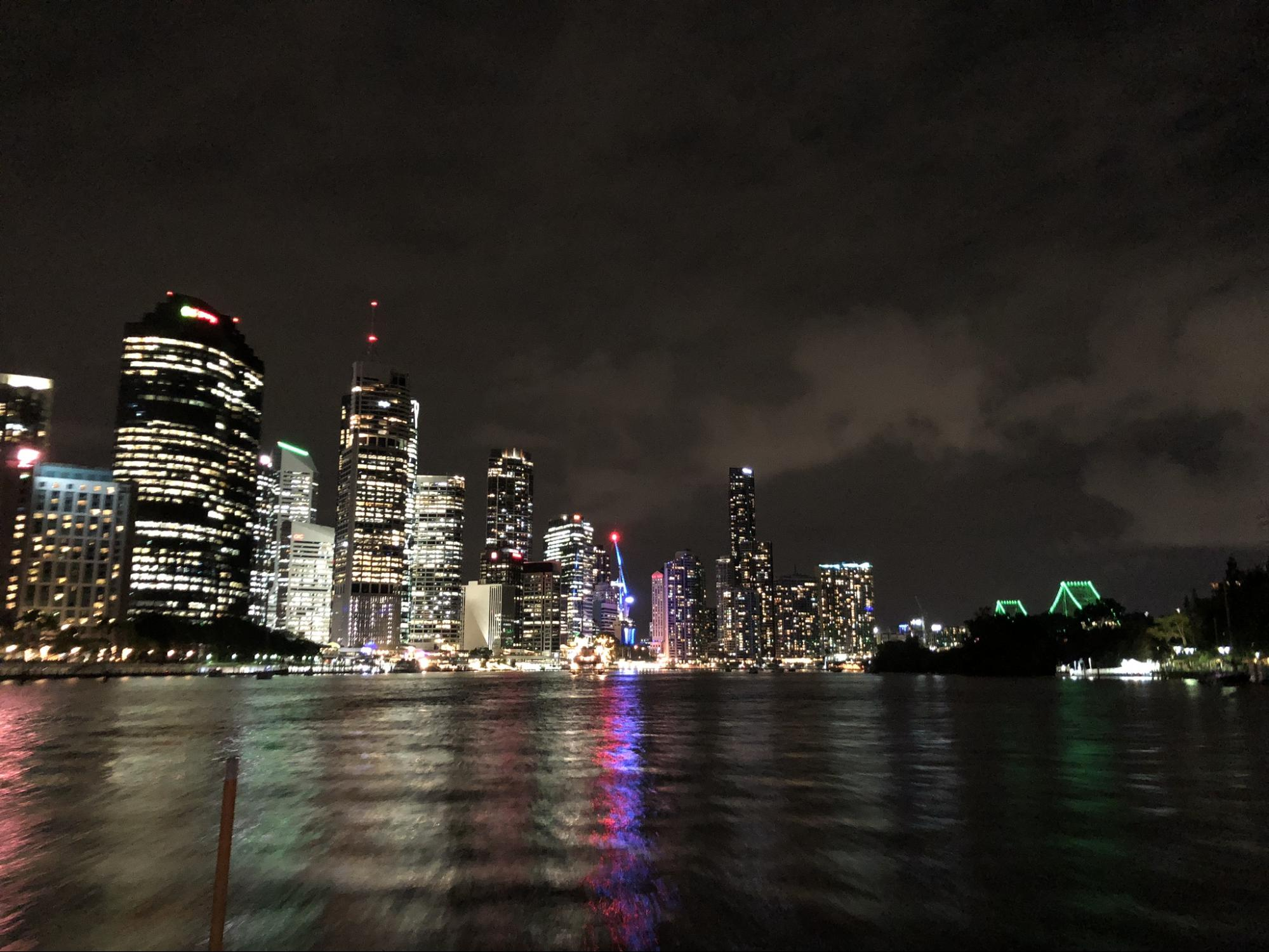 After all the hard work at the conference, the Brisbane skyline and nightlife were a welcome respite.