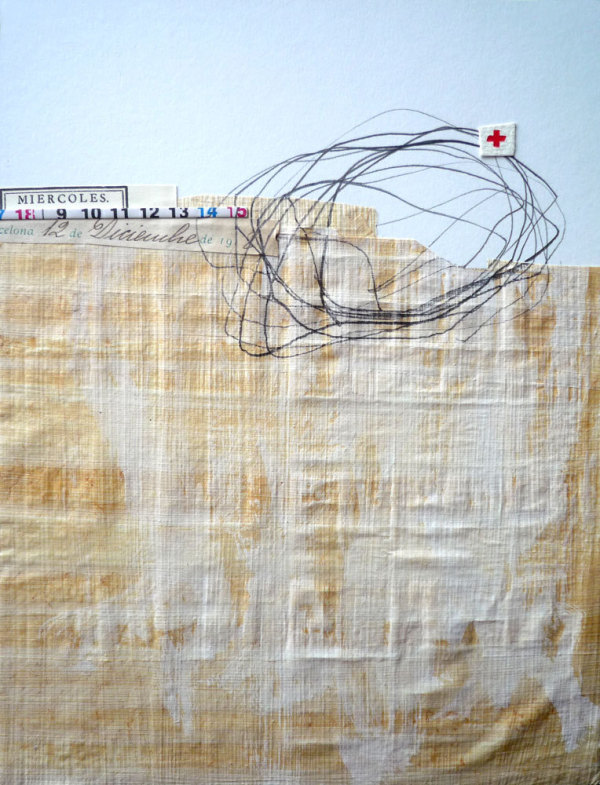 papyrus collage with red cross by  beamahan  on etsy