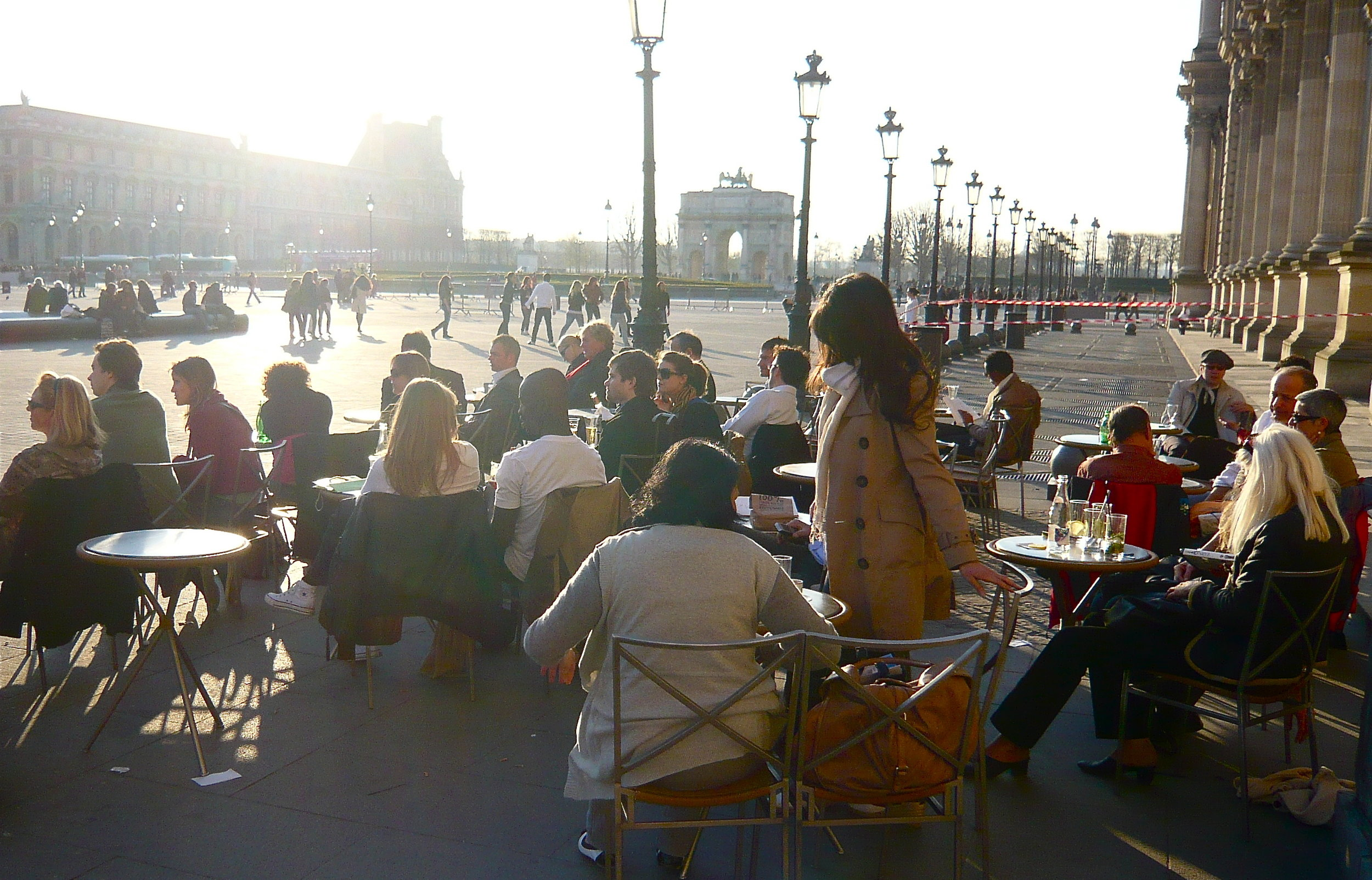Cafe Marly at the Louvre by  Herry Lawford on flickr  by  Creative Commons license .