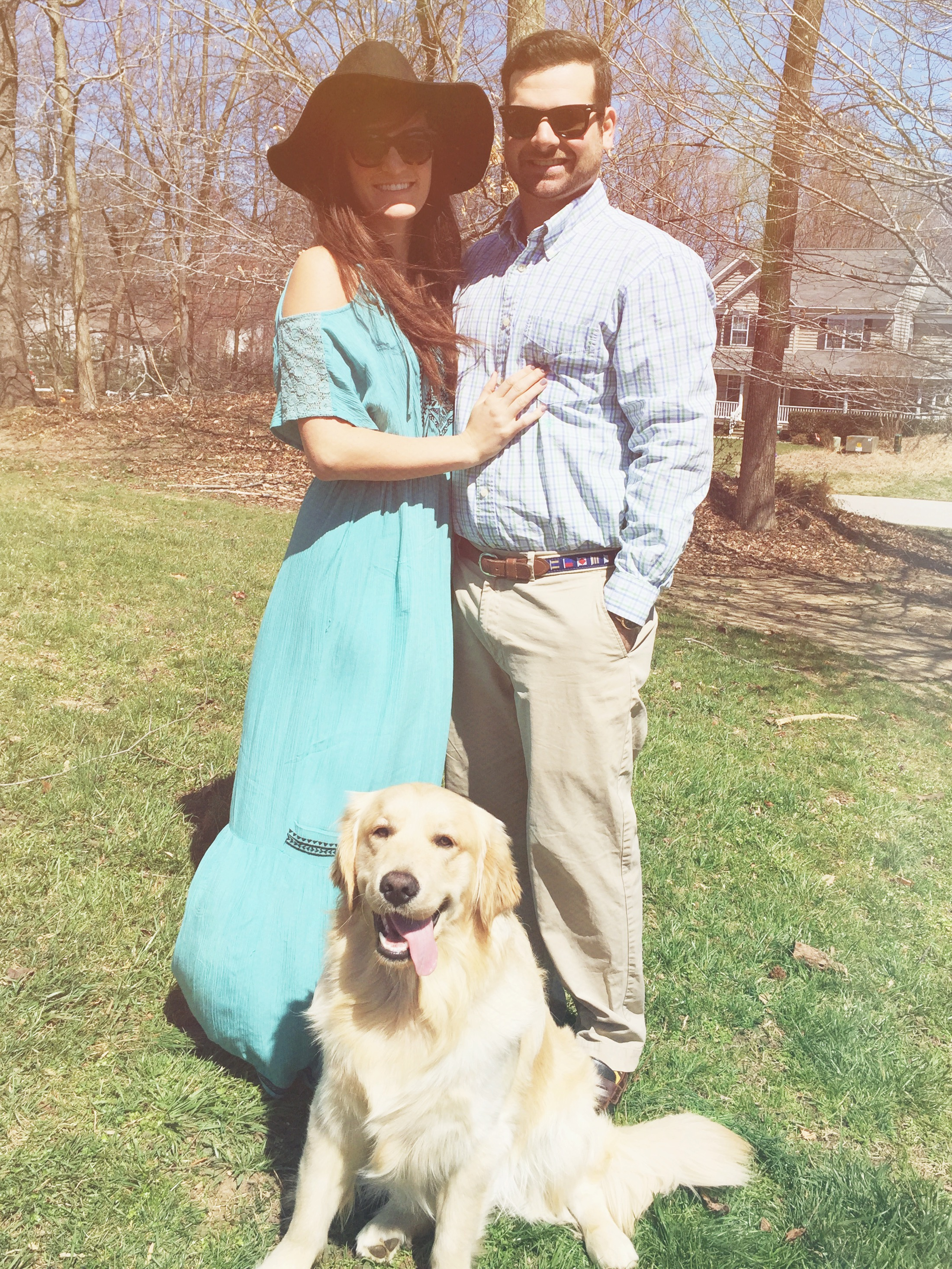 My husband & I with our dog Whiskey.