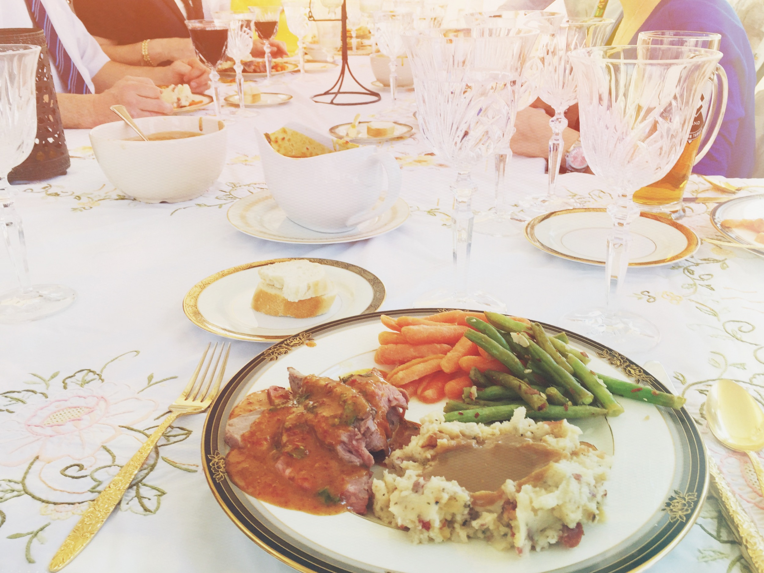 & of course the food is always amazing! Thank you for all of your blessings, God!