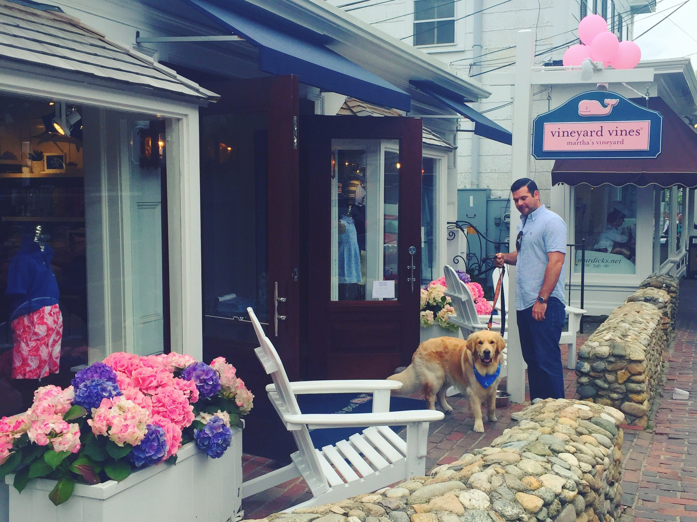 We got to got the the very first Vineyard Vines shop - so inspiring!