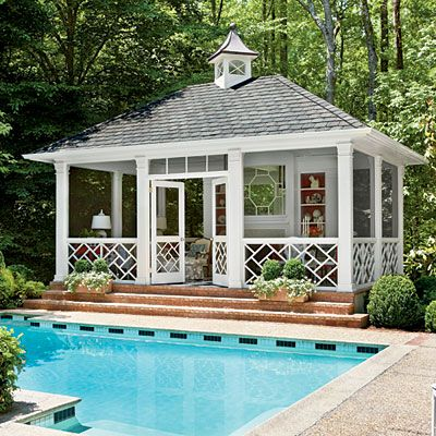 I don't think I'd ever leave this pool house!  [source]