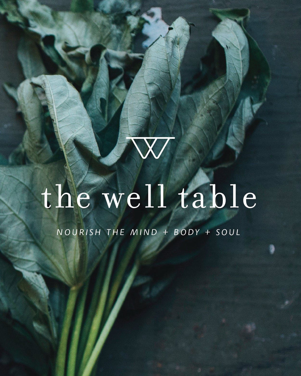 The Well Table  | Branding   The Well Table is a sacred place for people to go to feel inspired and excited about a meal. For people to love who they are, love their bodies, and love their food. The foundation of every move with the brand is to nourish the mind, body, and soul.