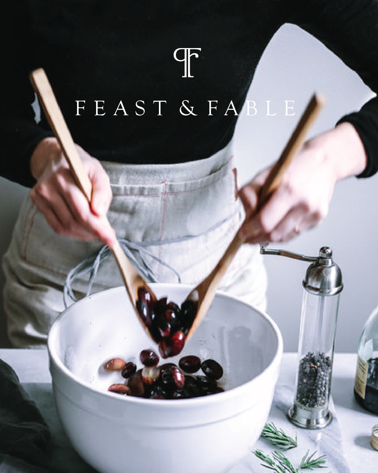 Feast & Fable  | Branding   Feast and Fable is devoted to exploring food as nourishment, for the body and soul, and how it finds its ways into all our best stories. It's about setting the table, pouring the good wine and learning from it all.