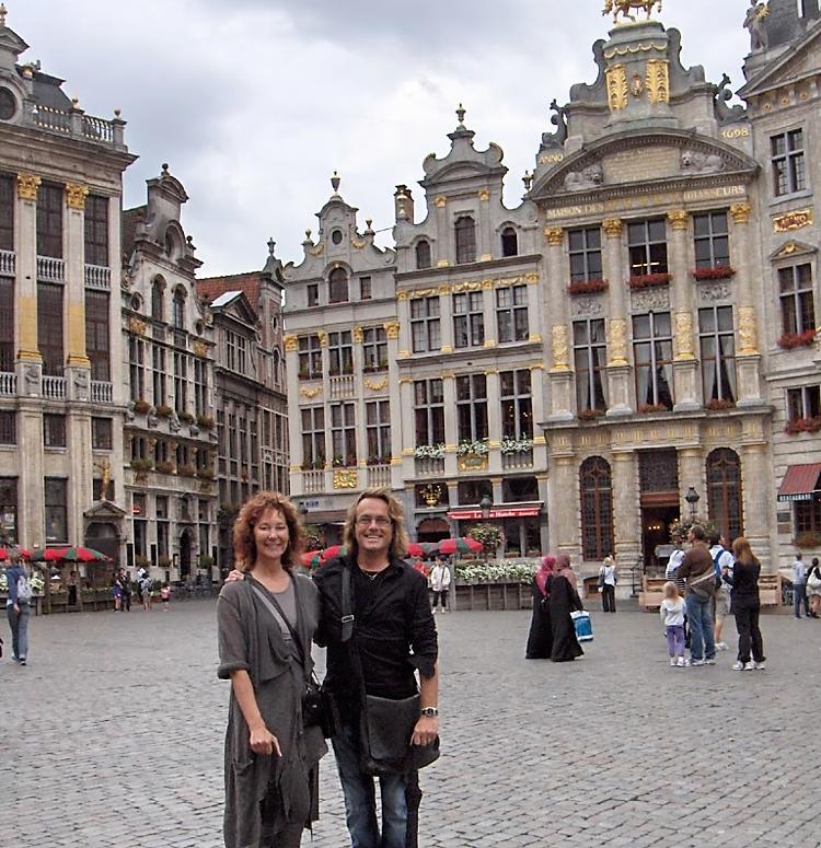 Cheri Grimwood with Pierre from Sarah Pacini in Belgium