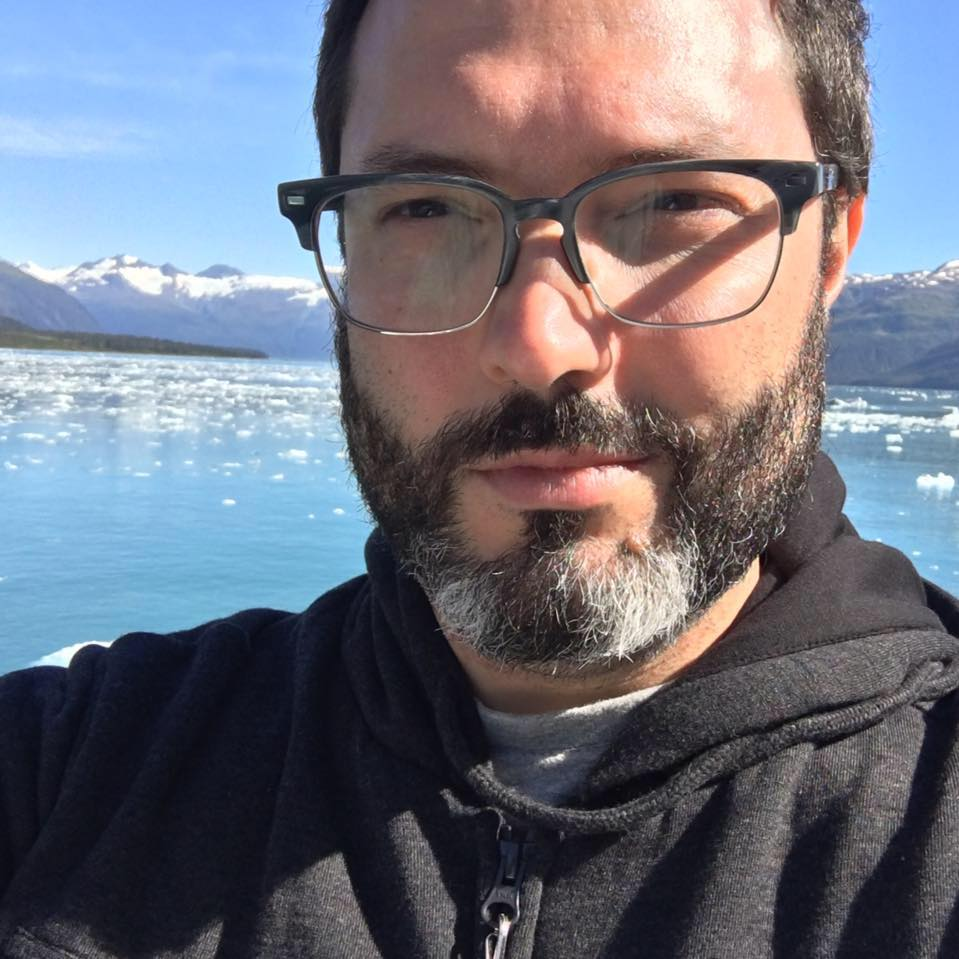 What I look like, when taking a selfie in front of a glacier