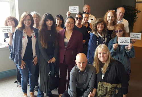 Bear Group members after we won our appeal. Mark and Kim, front row. Thank you Doris Lin, our attorney, and Angi Metler, Director, Animal Protection League.