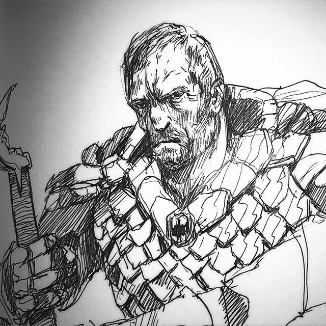 Nerd alert! I draw sci-fi fantasy book characters. Dalinar Kholin #stormlightarchive #dalinar #thewayofkings #shardplate