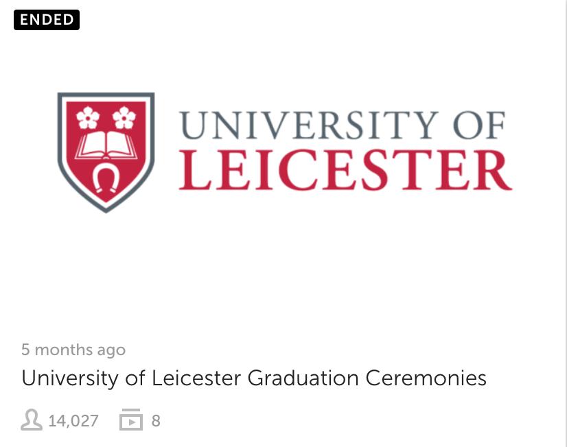 University of Leicester Graduations 2018