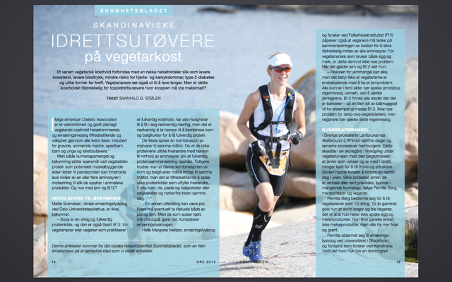 LifeStyleVIEW nr 2 2015, intervju Vegetarløperen.png