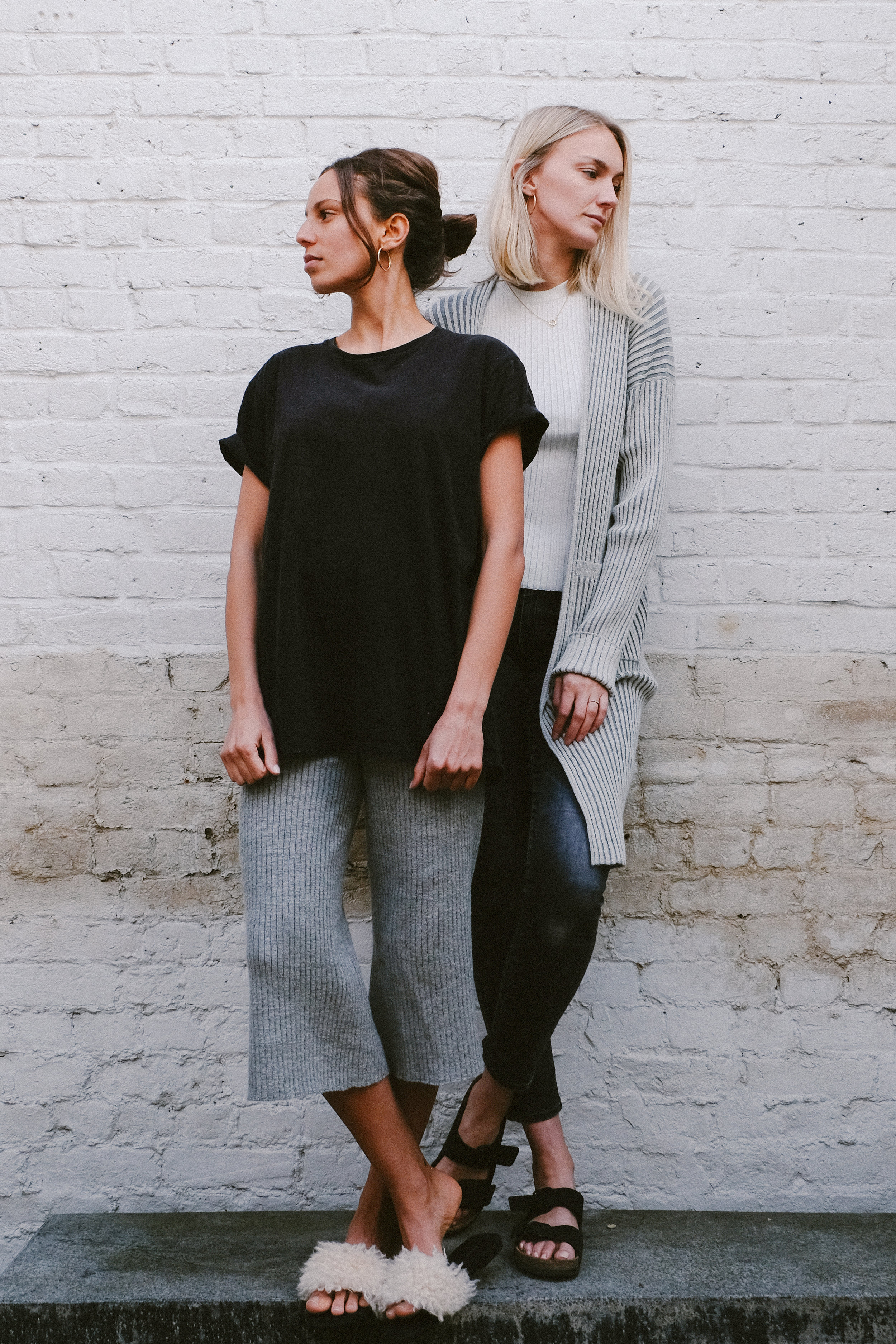 Daisy (Left) wears: Maryana Wrap +Selby Tank | Leah (Right) wears: own tee-shirt + Abby Pant | Made in Peru | SHOP HERE
