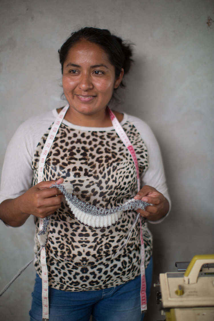 Meet artisan Maria whom runs a small family-run workshop from her house. The workshop have produced our signature Mia sweater amongst other styles.
