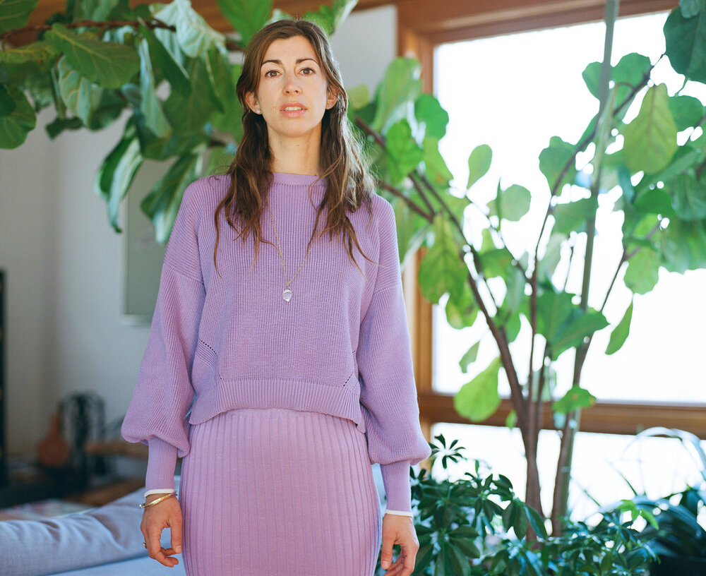 Jana models her favorite pieces from the     Spring 20 collection  , sustainably made in Peru from 100% Peruvian pima cotton  Film Photography | Medium Format by   Chelsy Mitchell   @chelsymitchell