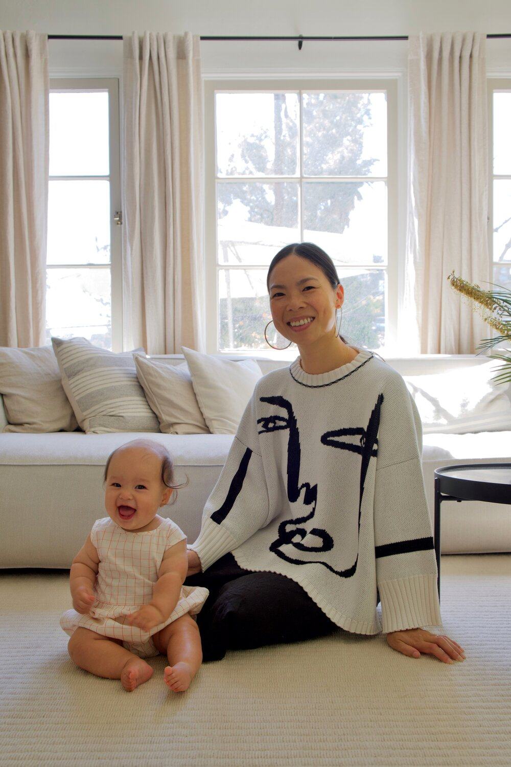 Meet    Jen Szeto  : new Mama, animation producer and style curator.  SEE FULL FEATURE   Jen wears the SHIRA Sweater in collaboration with    @koketit    |    SHOP HERE   Photography by  Colin Trenter   @wesleytrents