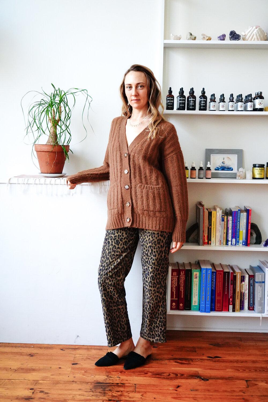 Alexis wears:  CARLA Cardi  in Sienna  |  SHOP HERE