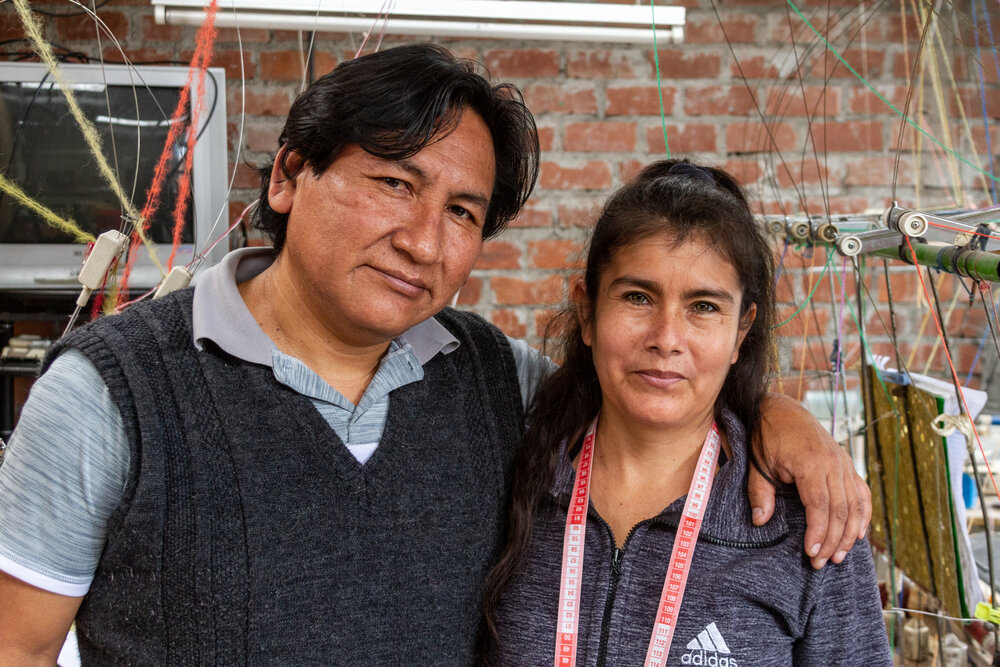 Meet Rosendo (left) - head of the workshop and head artisan knitter and (right ) his wife