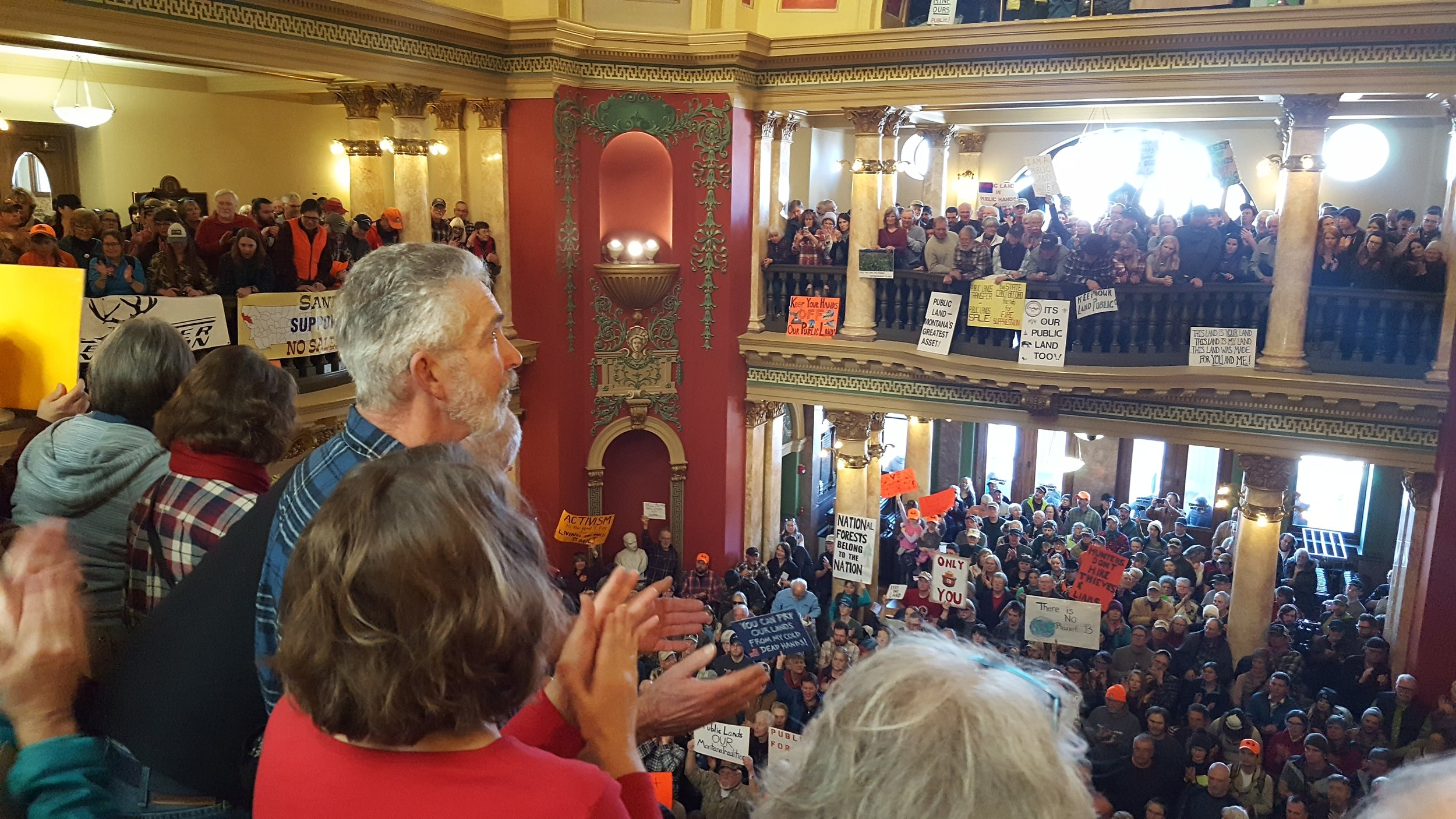More than 1,500 Montanans turned out for a public lands rally at the Capitol in Helena on Jan. 30. (Photo GYC.)