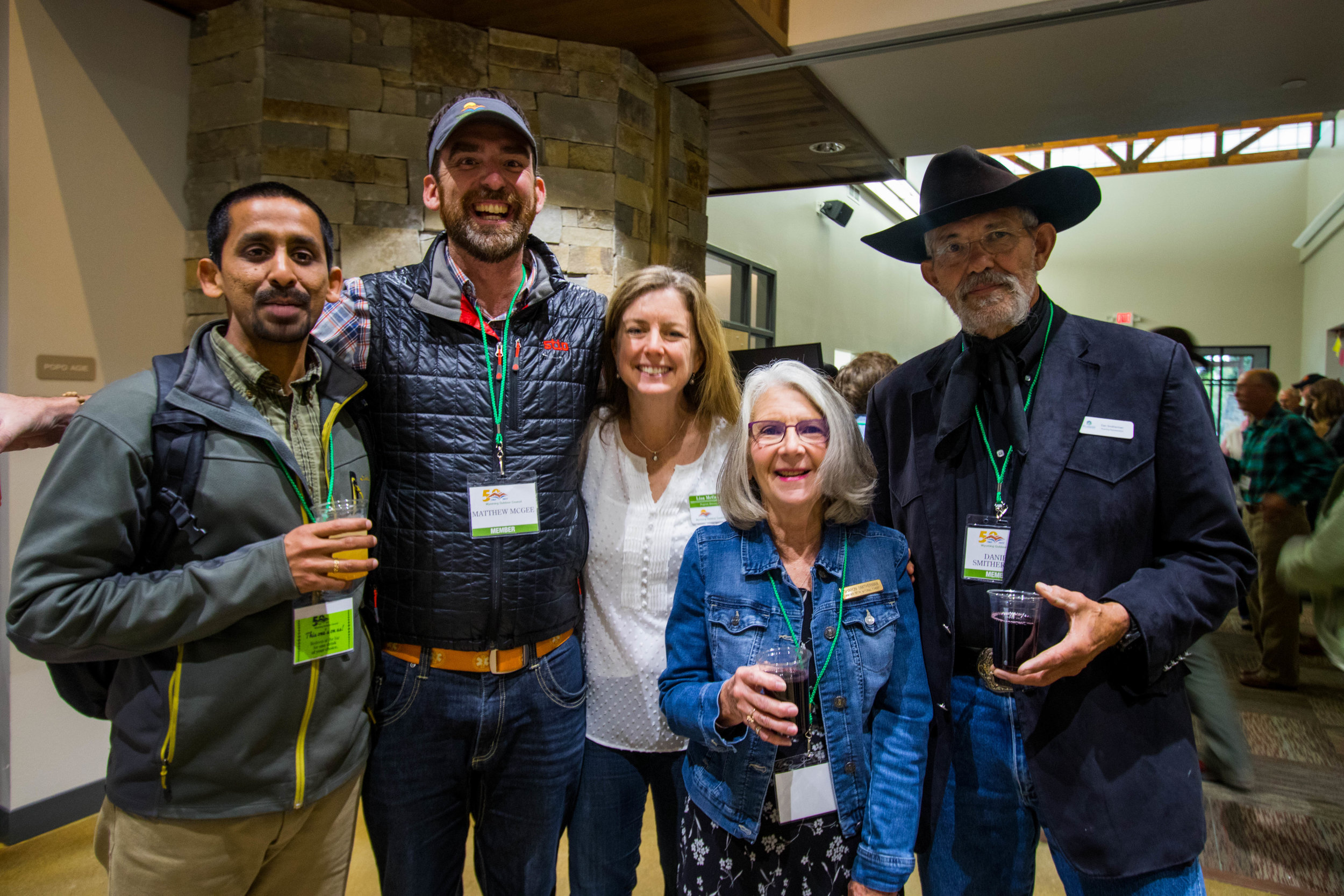 Siva Sundaresan (left), with colleagues at Wyoming Outdoor Council's 50th anniversary in Lander (WY) last weekend. Siva is working out of our new Lander office. Welcome to the team Siva! (Photo courtesy Claire Cella, Wyoming Outdoor Council.)