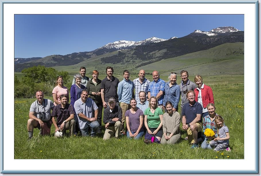 GYC staff and board members in Montana's Tom Miner Basin last year. (Photo GYC.)