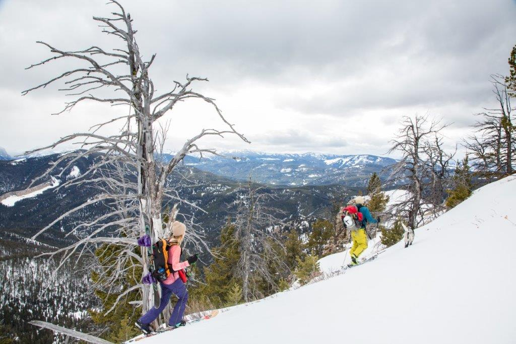 Skiing in Bozeman's wild backyard. You can make your voice heard today, to protect these mountains, our water, and our wildlife. (Photo Louise Johns.)