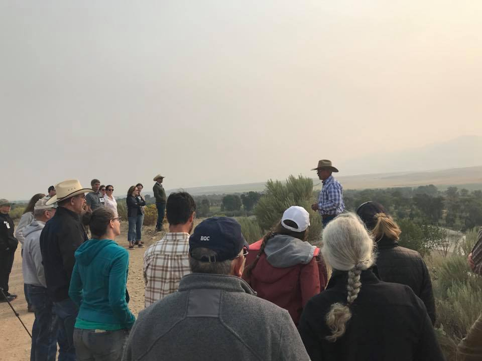 Rancher and RVSA member Rick Sandru speaks overlooking the Jefferson River. (Photo GYC.)