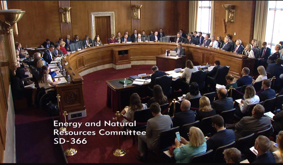 The Senate Energy and Natural Resources Committee meeting on October 2, 2018. (Photo GYC.)
