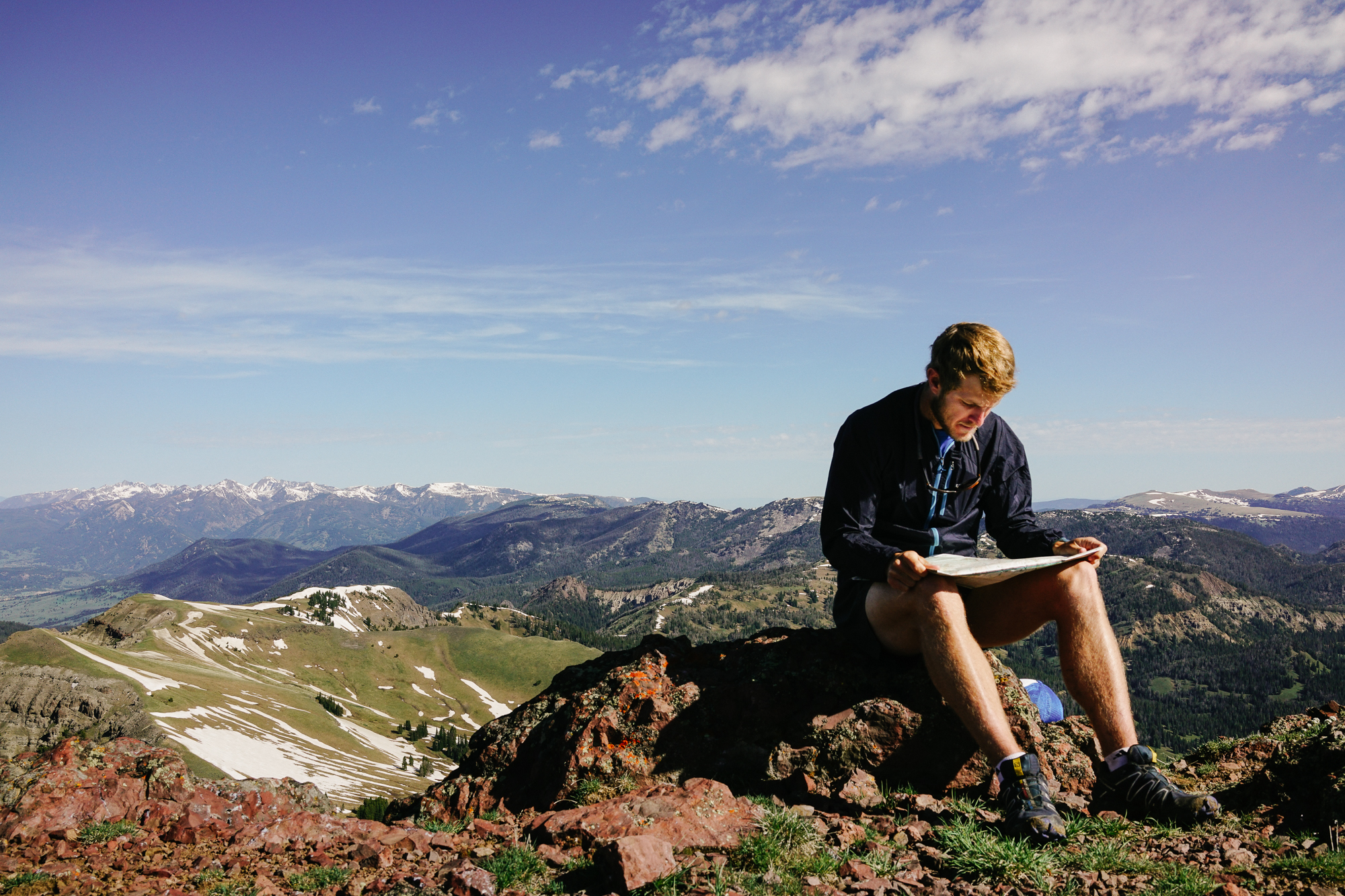 On a mountain ridgeline in the Custer Gallatin National Forest in Montana. (Photo Louise Johns.)