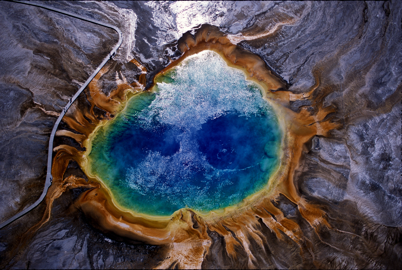 Grand Prismatic Spring in Yellowstone National Park. (Photo Tom Murphy.)