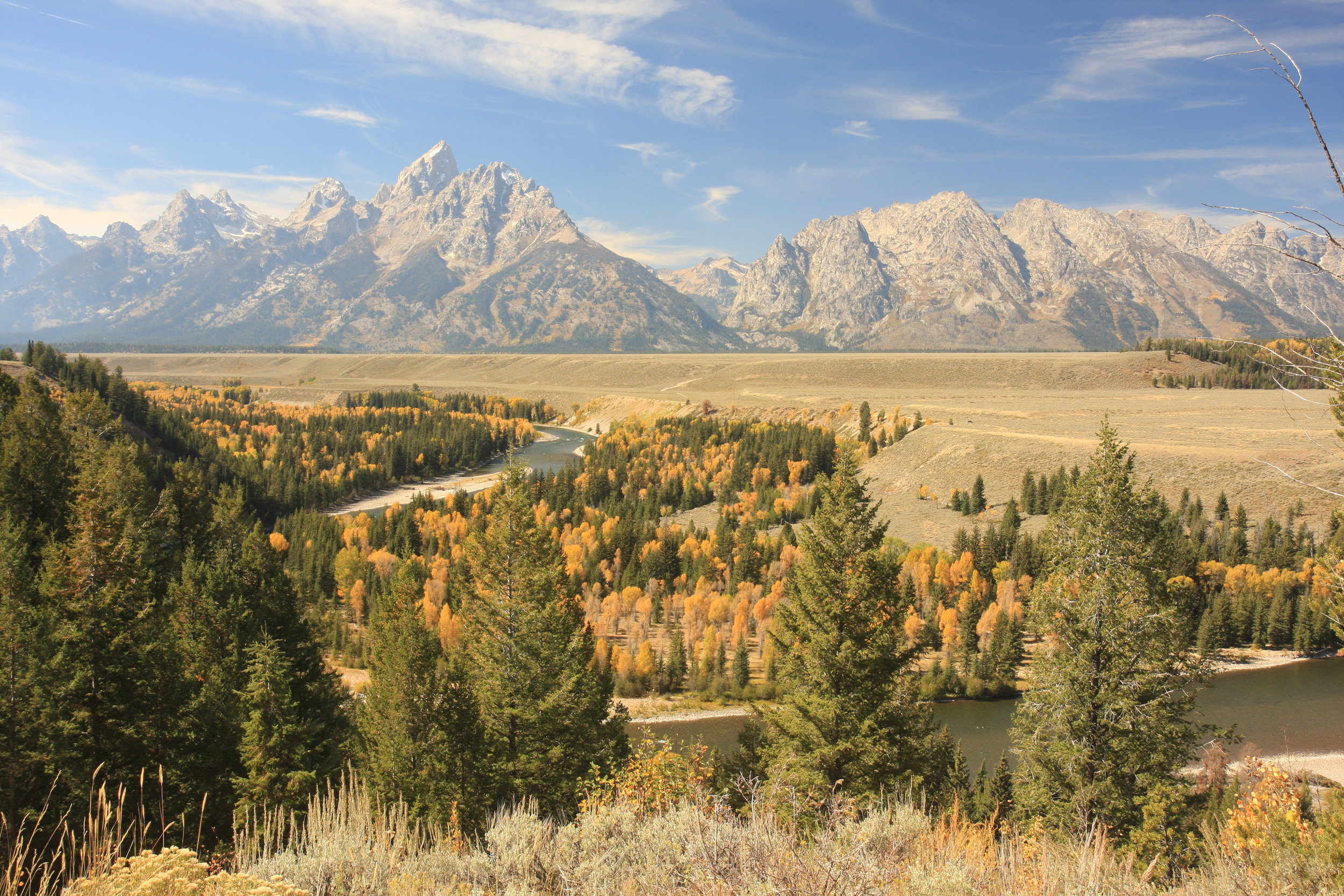 The Snake River as it flows by the Tetons in Wyoming. (Photo Len Trout.)
