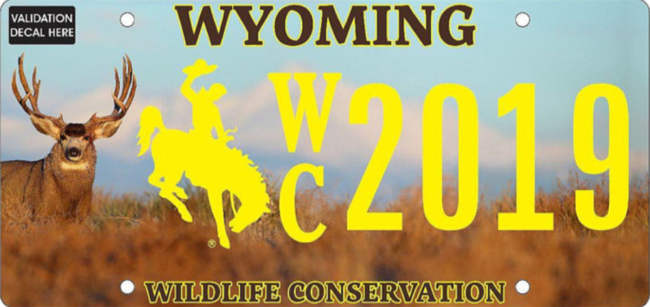 Wyoming's new Wildlife Conservation License Plate! Apply for yours today.