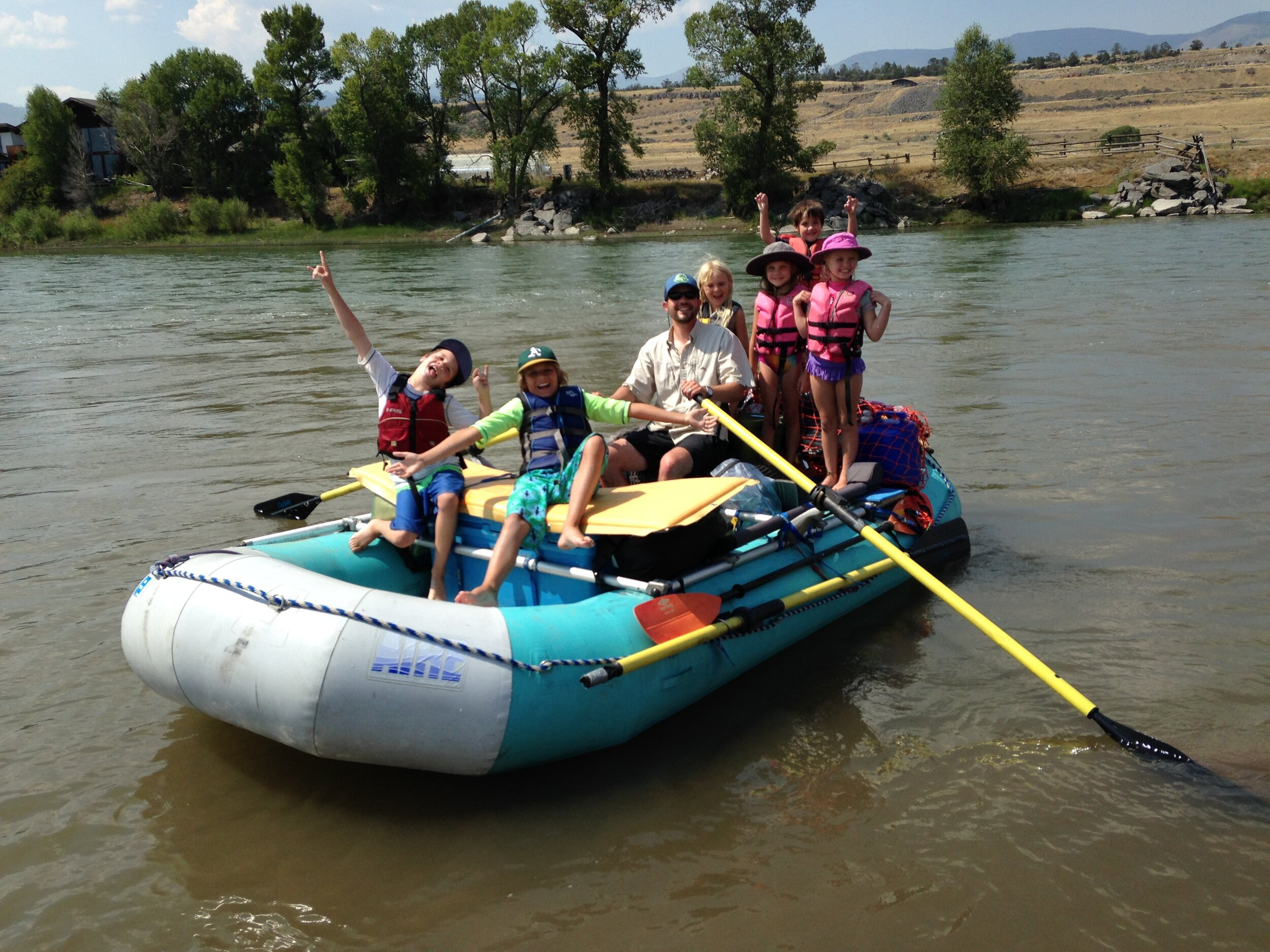 The Greater Yellowstone Coalition's Deputy Director Scott Christensen and his rafting crew on the Yellowstone River. (Photo Scott Christensen.)