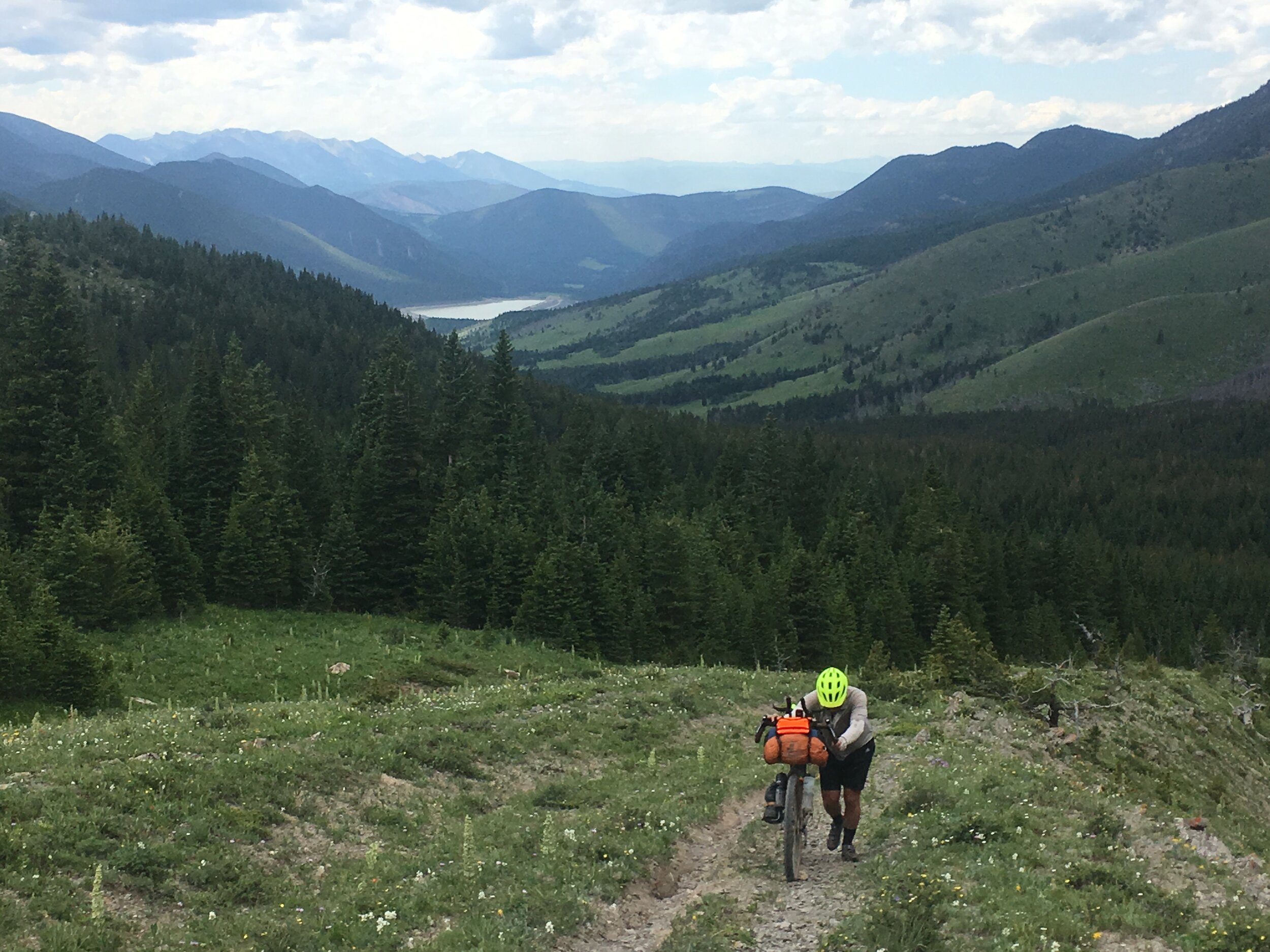 Climbing out of the East Boulder River and topping out on Meyers Pass