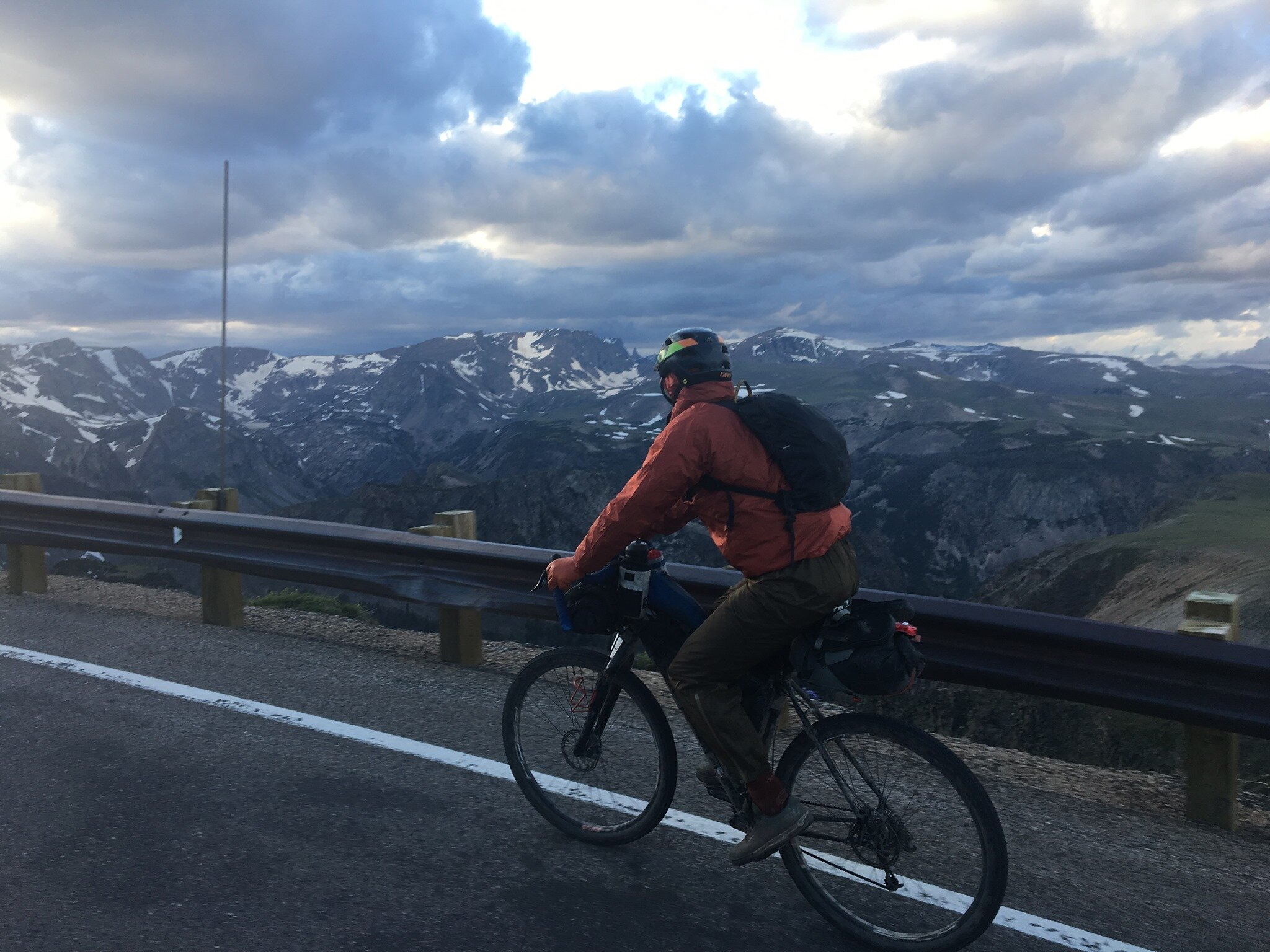 Topping out near summit of Beartooth Pass