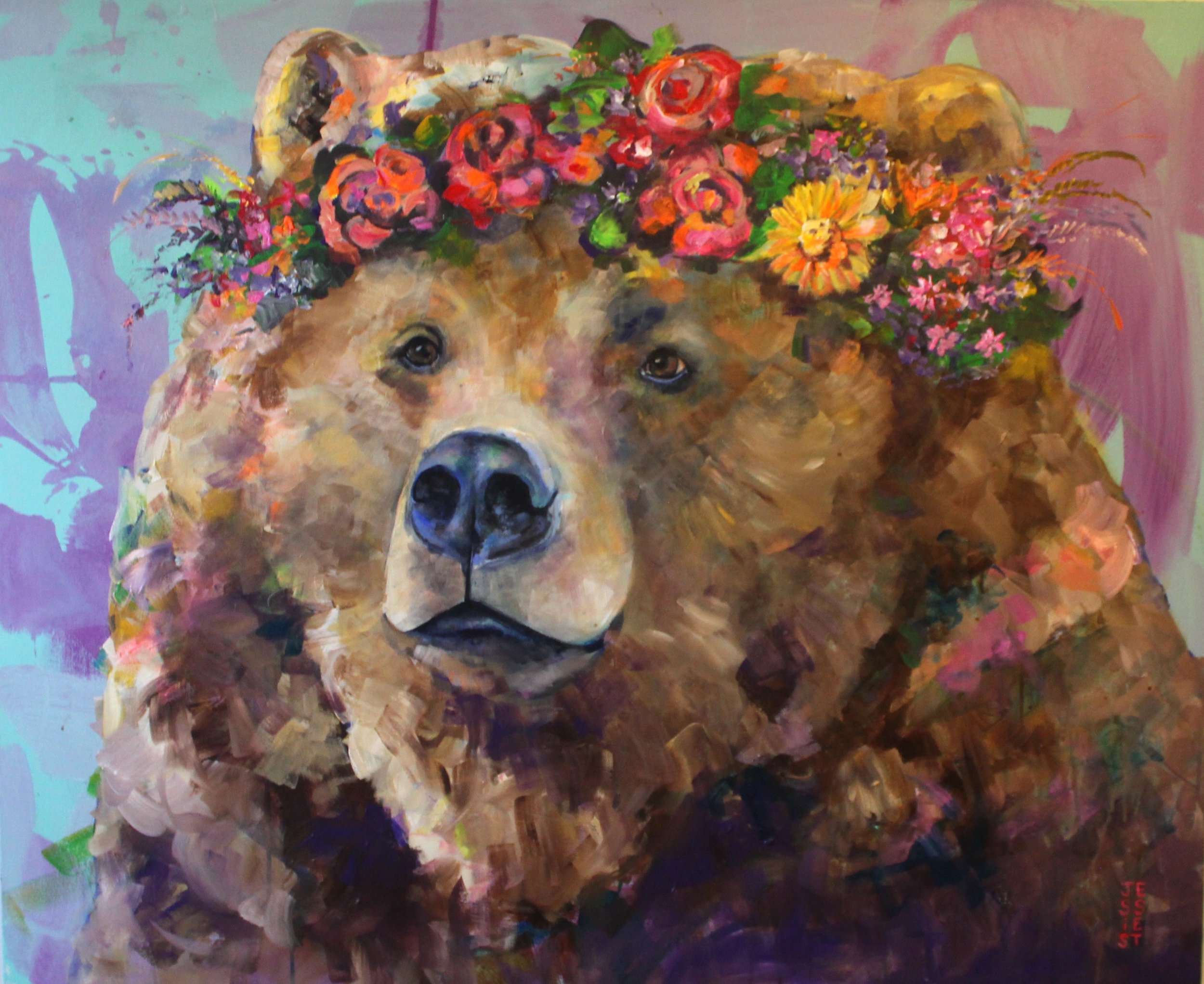 """Bears Day Dream Too"" 45""x37"""