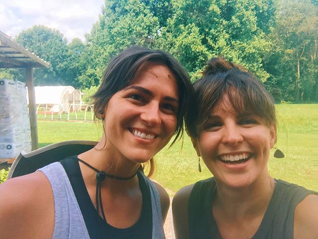 Dirty, happy faces abound during our Gather and Grow: A Full Circle Yoga Experience day retreat at @crabtreefarms last year. 🌱 This photo of @bohemianseed and I was taken after digging in the dirt and weeding okra with some hilarious, open hearted friends (old and new!) who showed up to connect to their community, themselves, and this sweet Earth we get to call home. 🌎 Lucky for you we decided to do it again this year. So join us for some farm service, farm to table lunch, outdoor shady oak tree yoga, and a sacred tea ceremony/meditation. We have a few spots left but we keep this event small and intimate so get your ticket ASAP! June 1!! 10am-2pm! ❤️ Link in Bio.