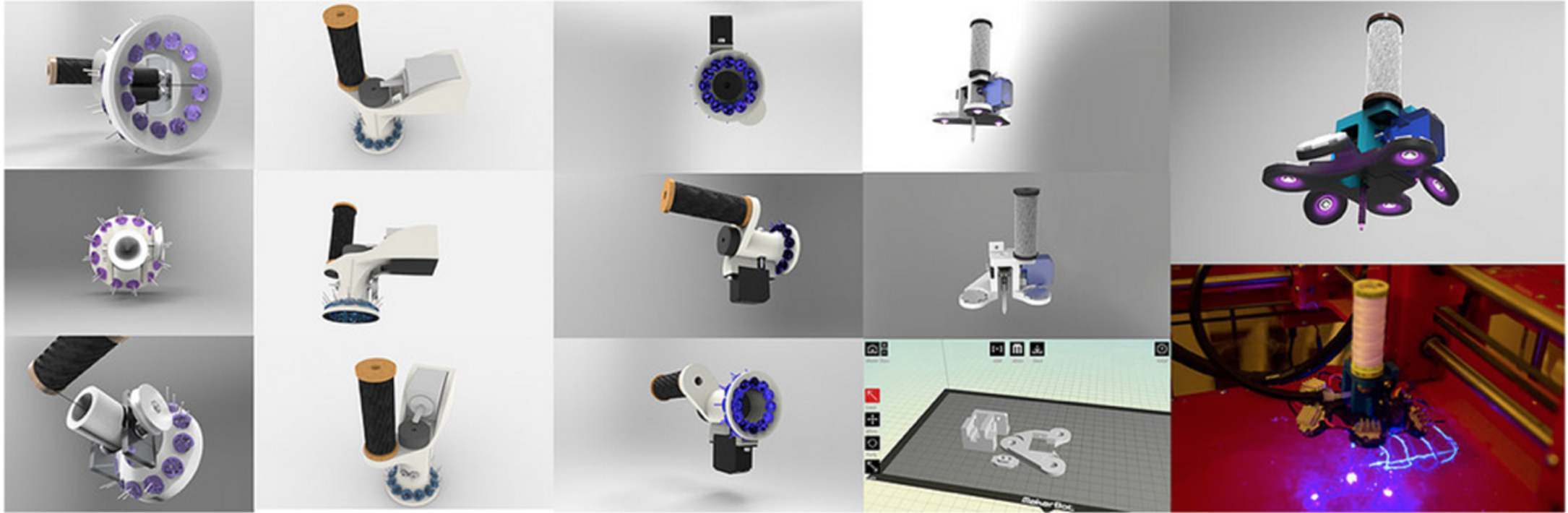 Extruder design and iterations