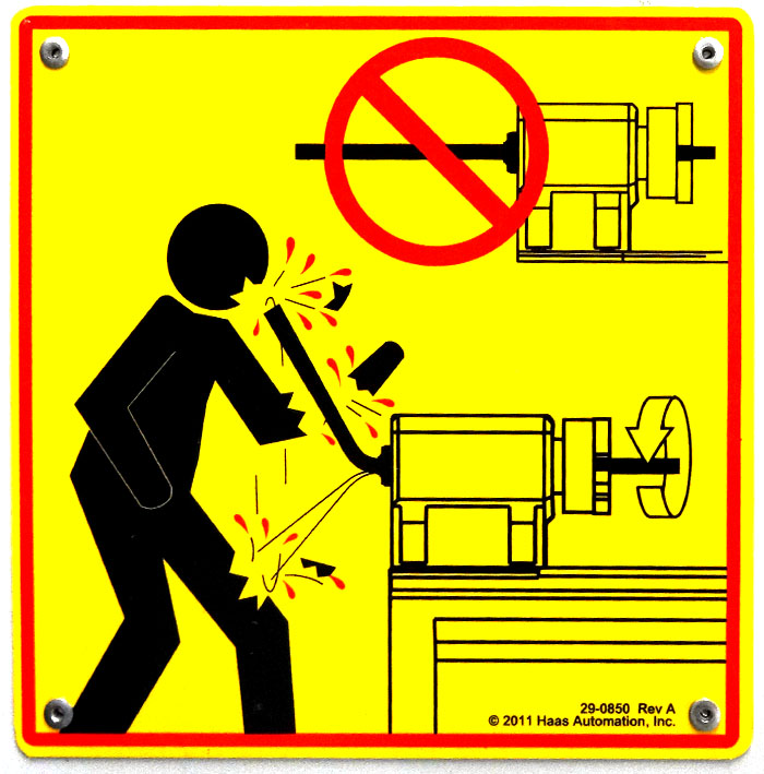 lathe warning