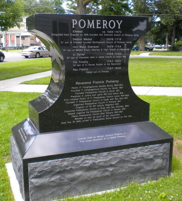 Pomeroy Anvil Monument, Lyons NY                                         click to enlarge image