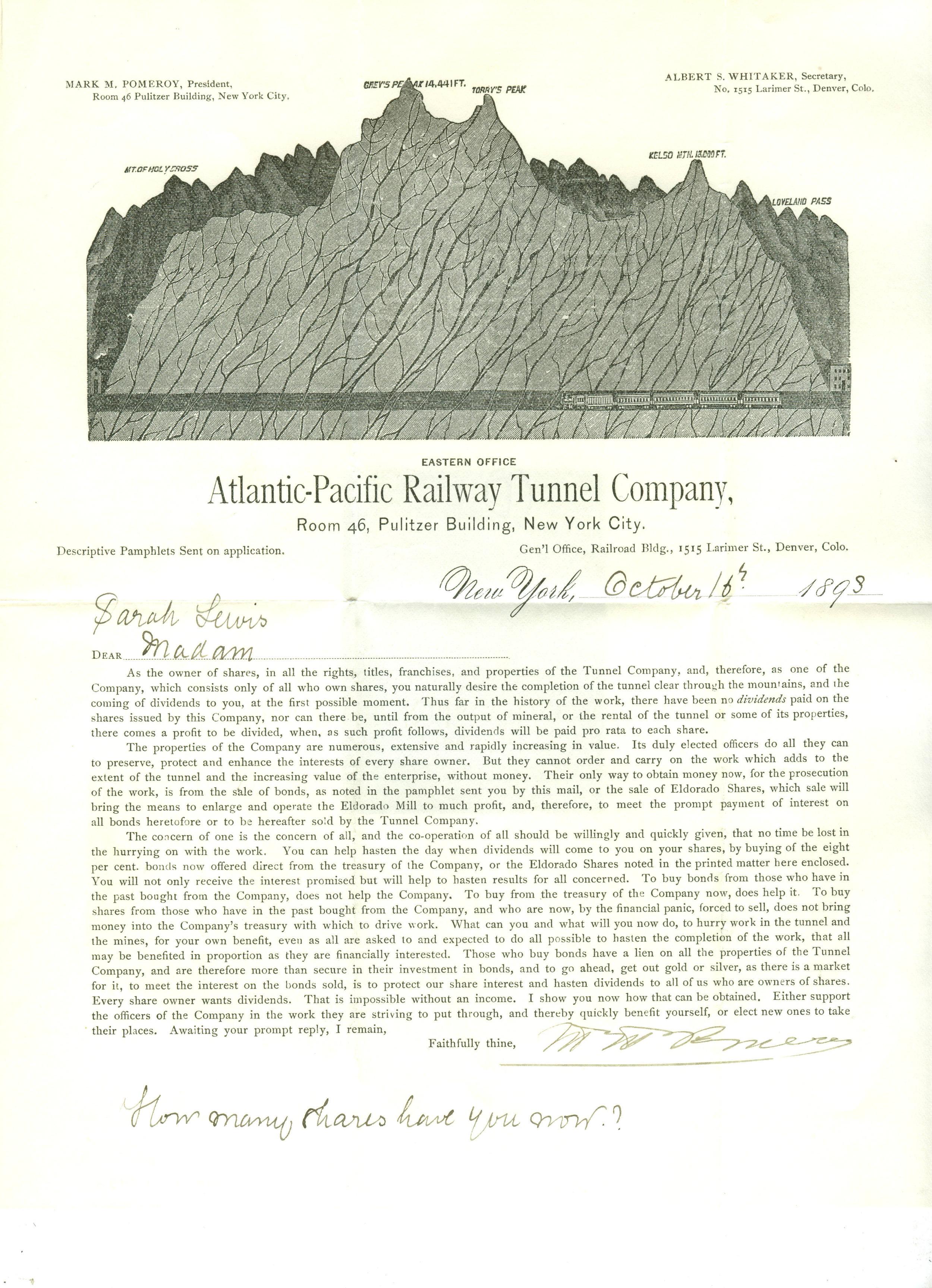 A-P Railroad Tunnel 1893