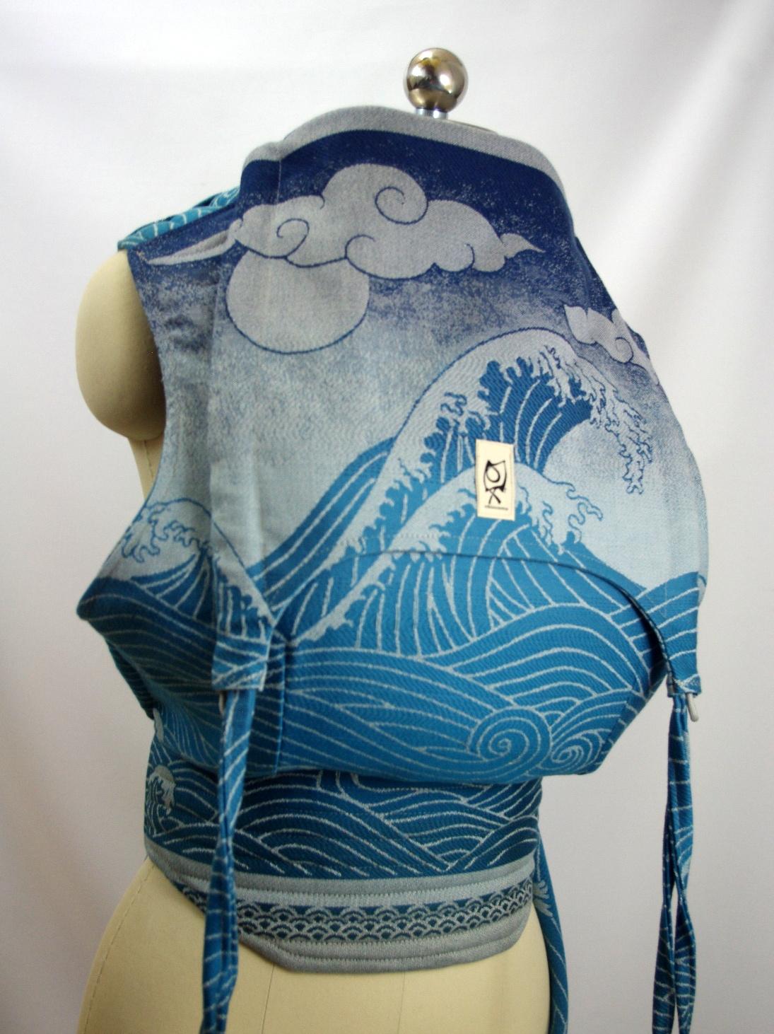 Oscha Slings Okinami Frost ObiMama Wrap Conversion Mei Tai