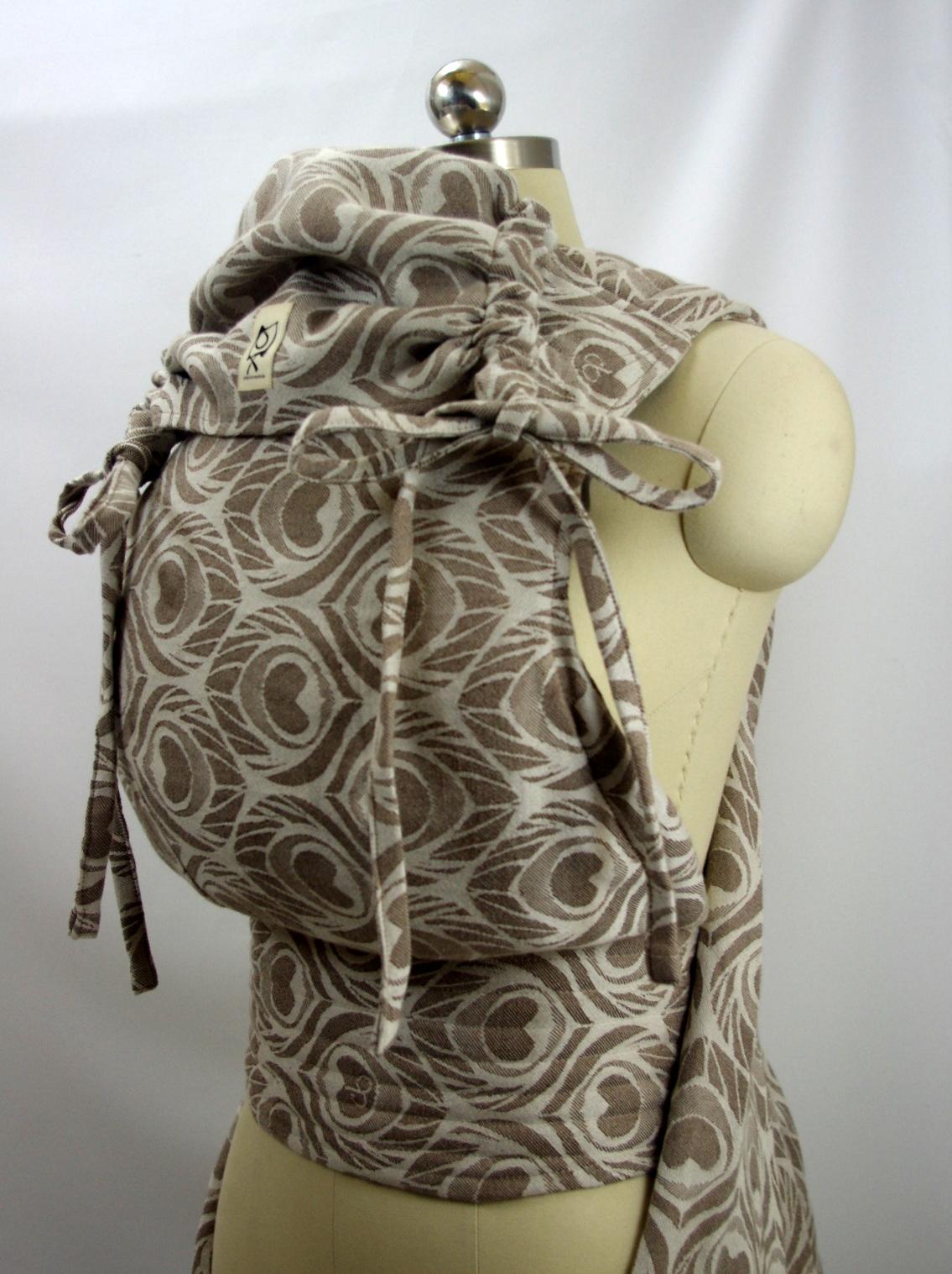 Artipoppe Canapa Taupe ObiMama Wrap Conversion Mei Tai