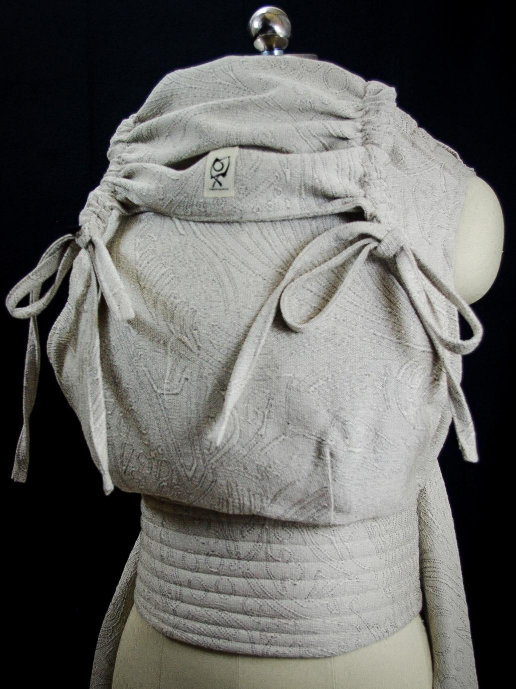 ObiMama Wrap Conversion Mei Tai Pavo Textiles' Charlotte Noir