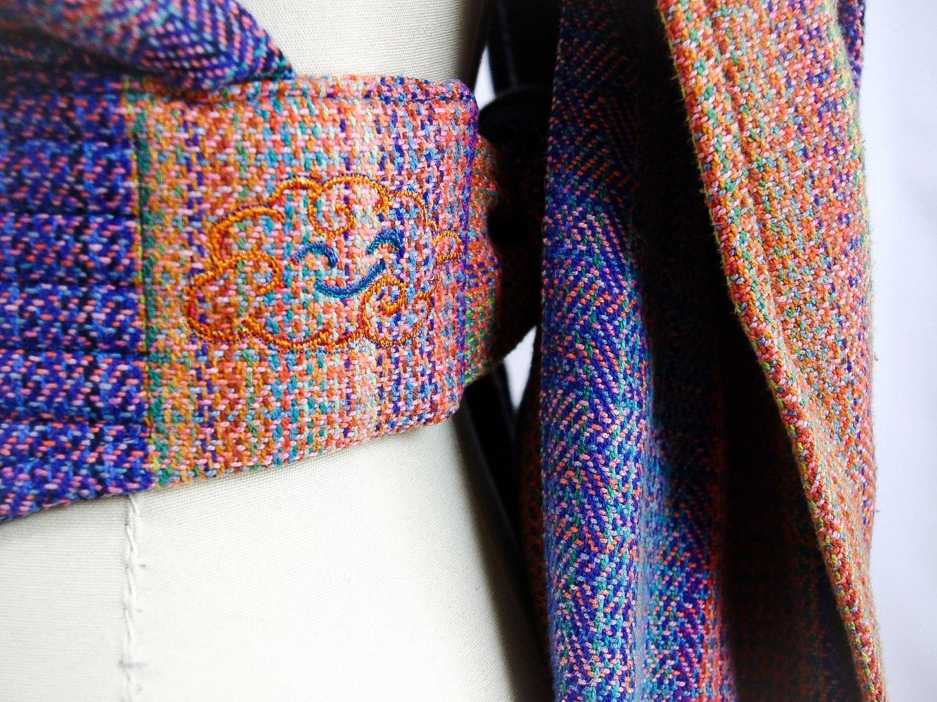 ObiMama Wrap Conversion Mei Tai Banu Textiles' Farideh Opalicious embroidery