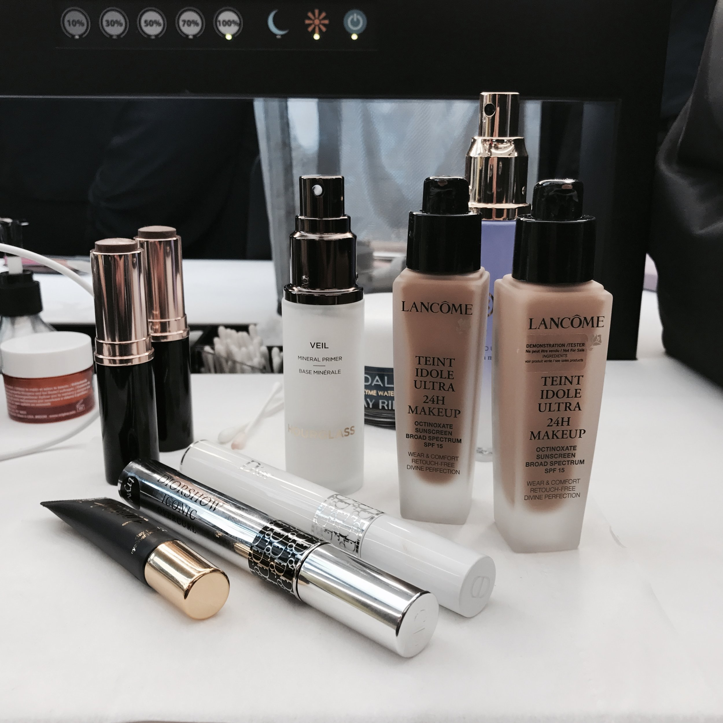 The products used during my makeover...