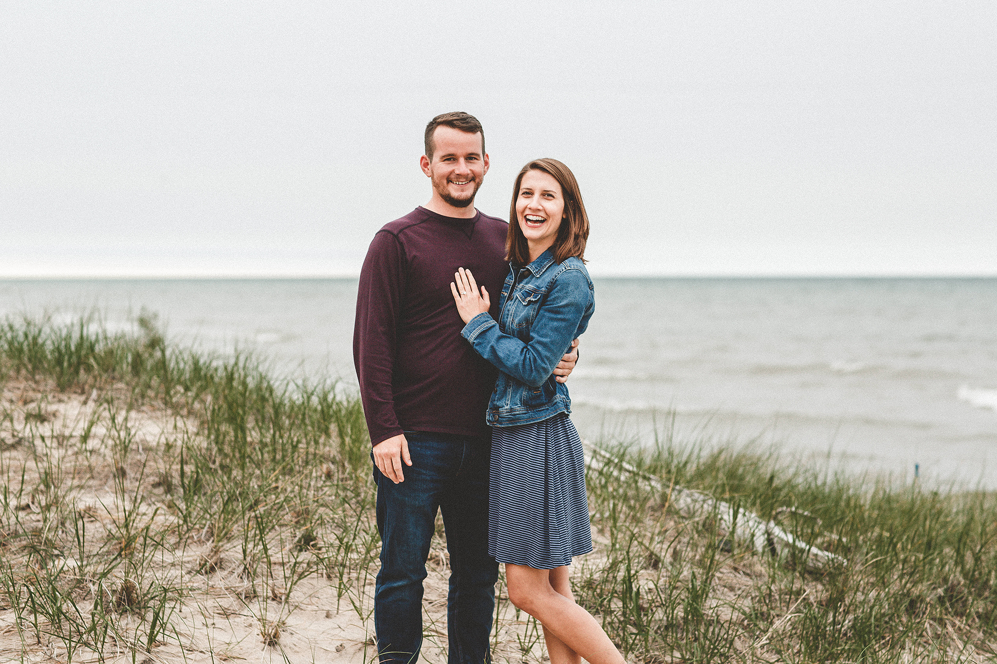 Engagement photo on the beach | Sheboygan, WI Wedding & Engagement photographer | Chrissy Deming Photography