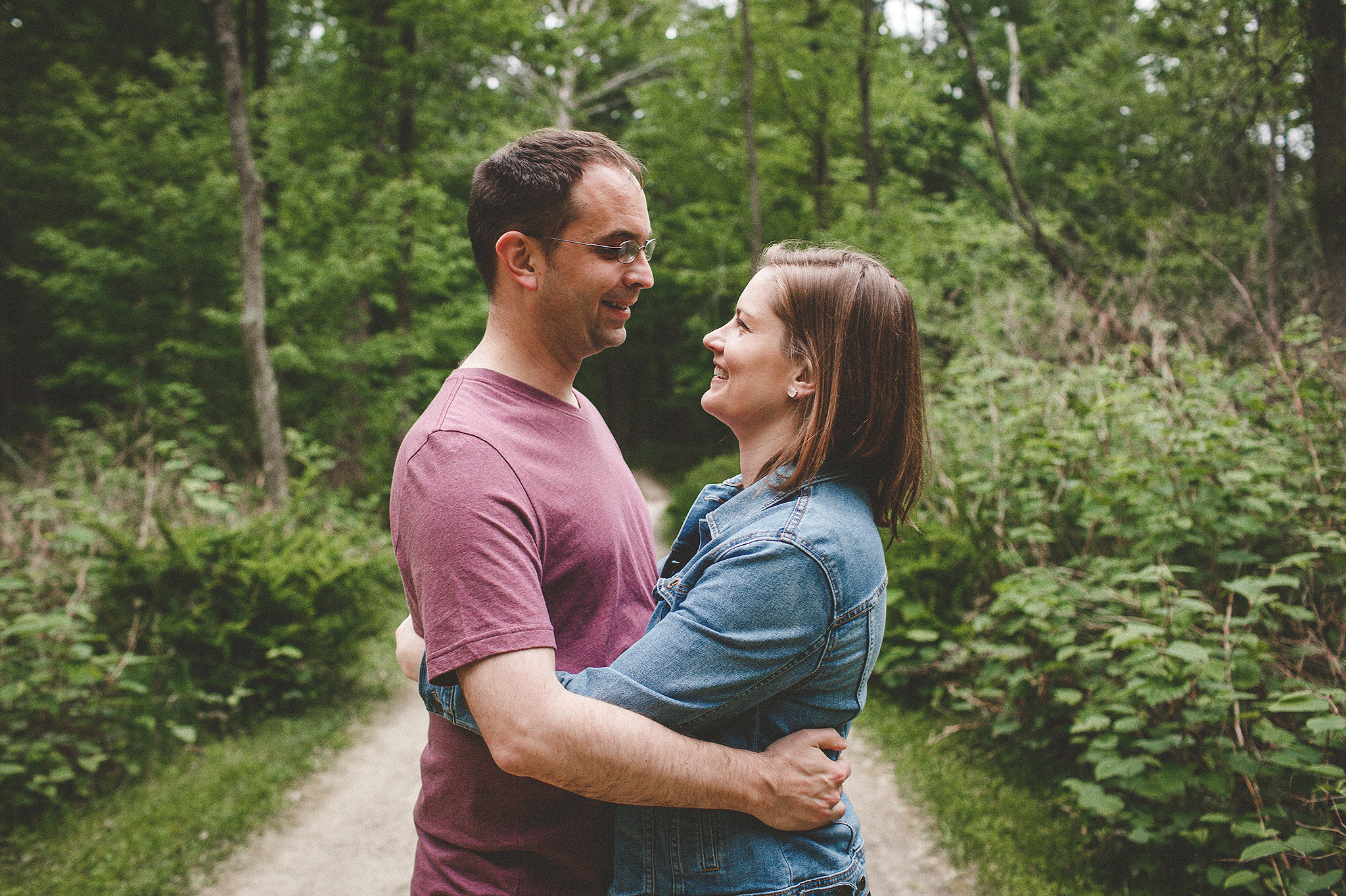 Forest Preserve Engagement pictures | Sheboygan, WI wedding & engagement photographer | Chrissy Deming Photography