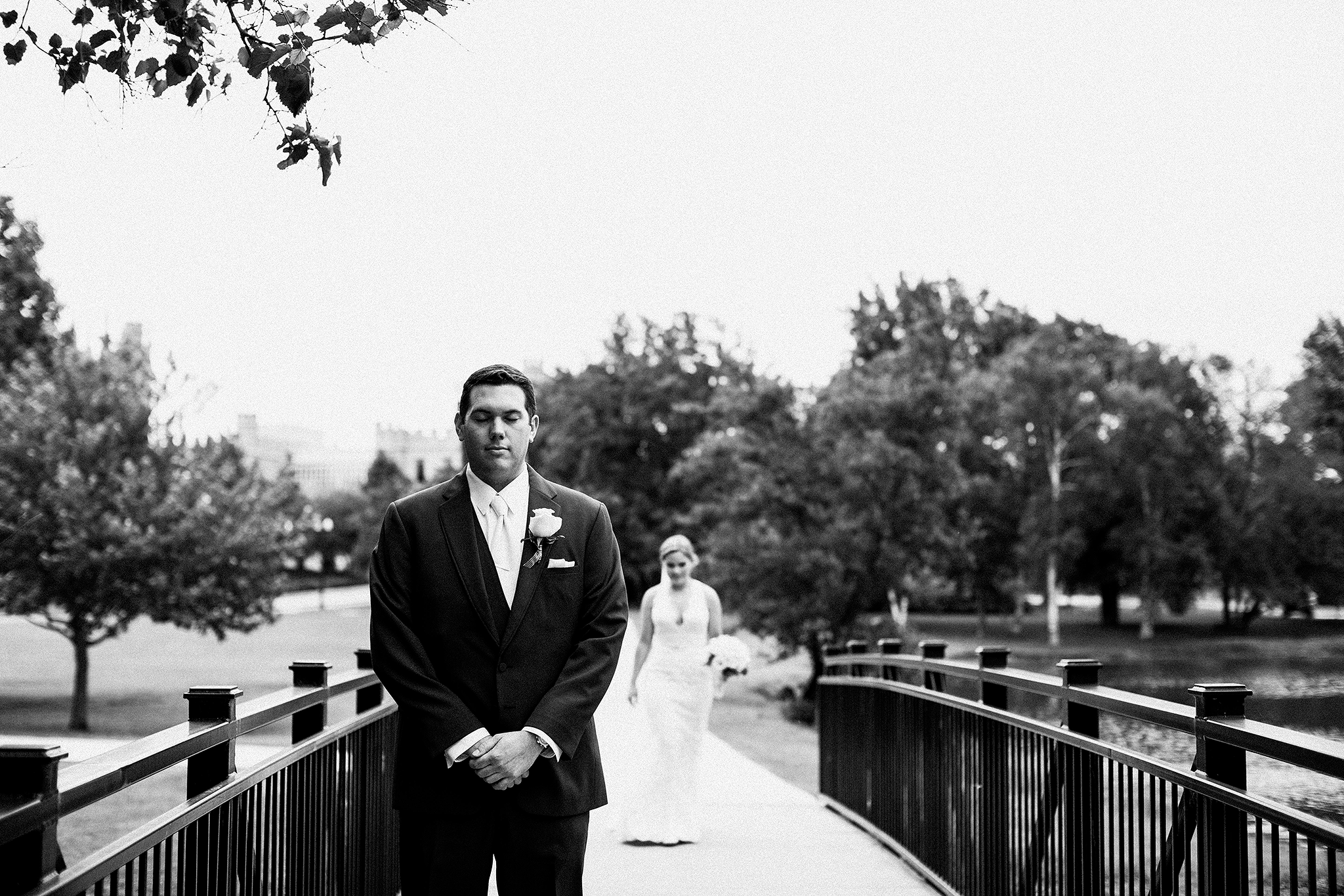 bride and groom first look | dekalb, IL wedding photographer | chrissy deming